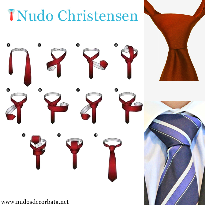 Como hacer el nudo de corbata Christensen paso a paso