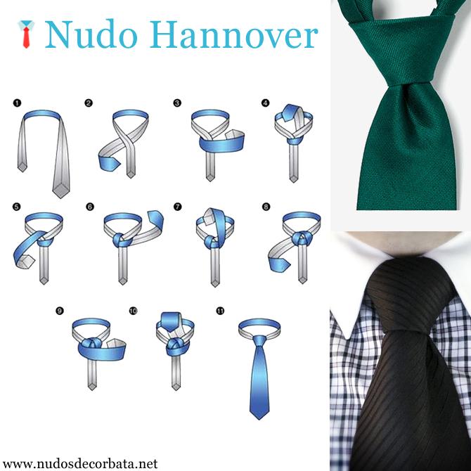 Como se hace el nudo de corbata Hannover paso a paso