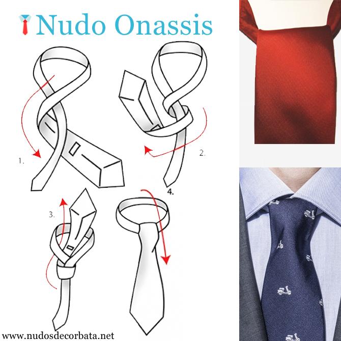 como hacer el nudo de corbata Onassis paso a paso