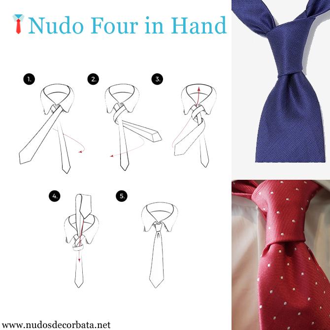como hacer el nudo de corbata Four in Hand