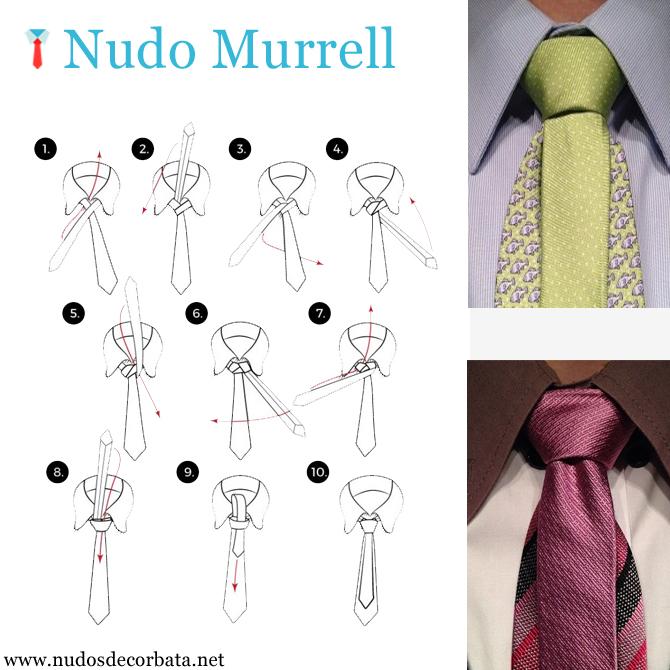 como hacer e nudo de corbata Murrell