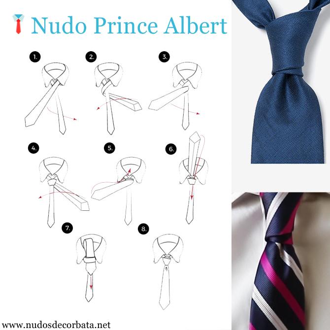 Nudo Prince Albert paso a paso con esta infografía