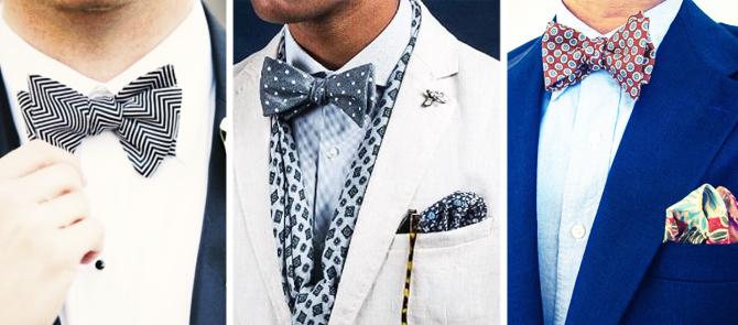 Ejemplos de nudo pajarita corbata