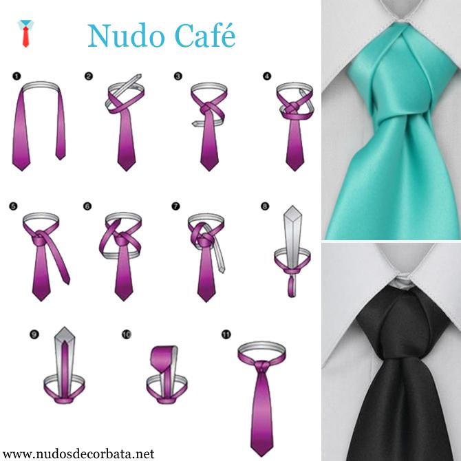 como hacer el nudo de corbata Café