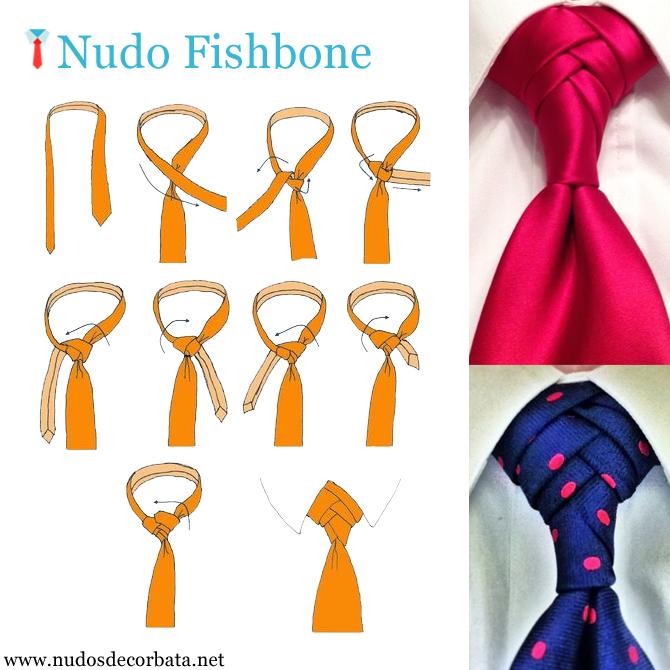 como hacer el nudo de corbata Fishbone La Espina de Pez