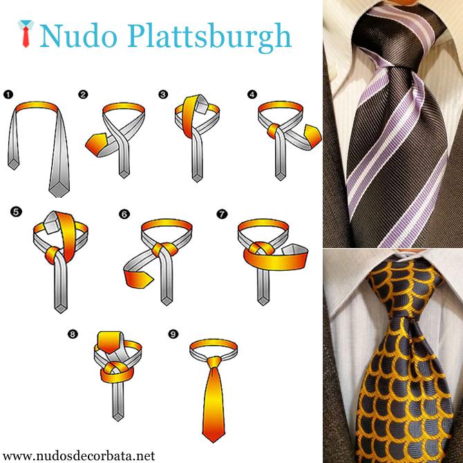 como hacer el nudo de corbata Plattsburgh
