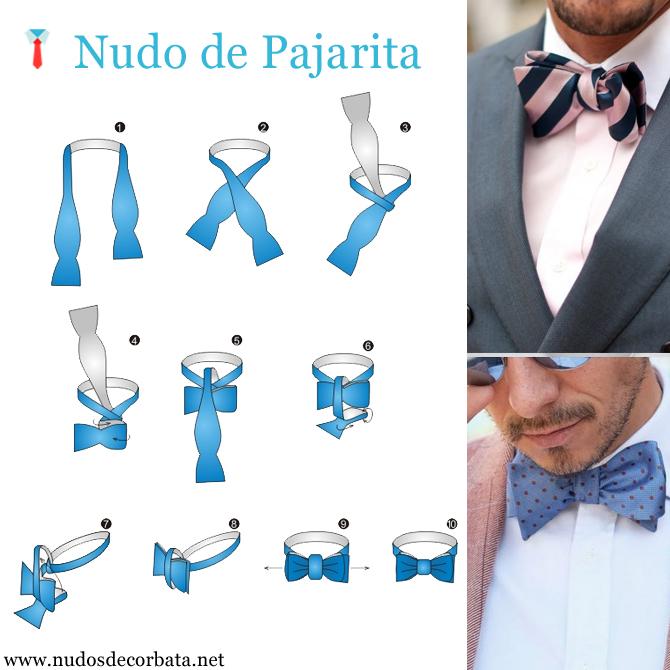 como hacer el nudo de pajarita con una corbata
