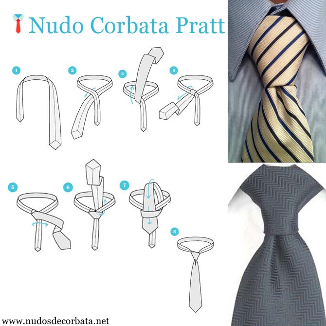 como hacer el nudo de corbata Pratt