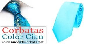 Corbatas Color Cian