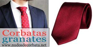 Corbatas Granates