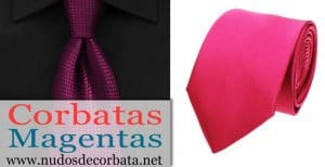 Corbatas Magentas