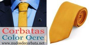 Corbatas Ocres