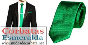 Corbatas Verde Esmeralda