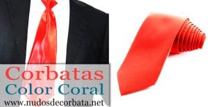 Corbatas color Coral