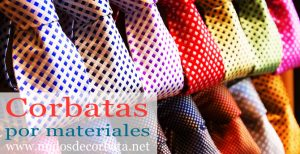 Corbatas de distintos materiales para Comprar On-line