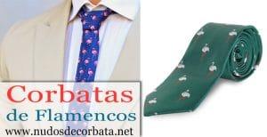 Corbatas de flamencos